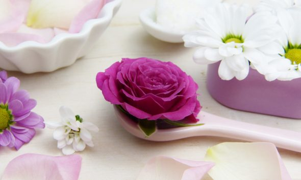 skin care tips with flowers